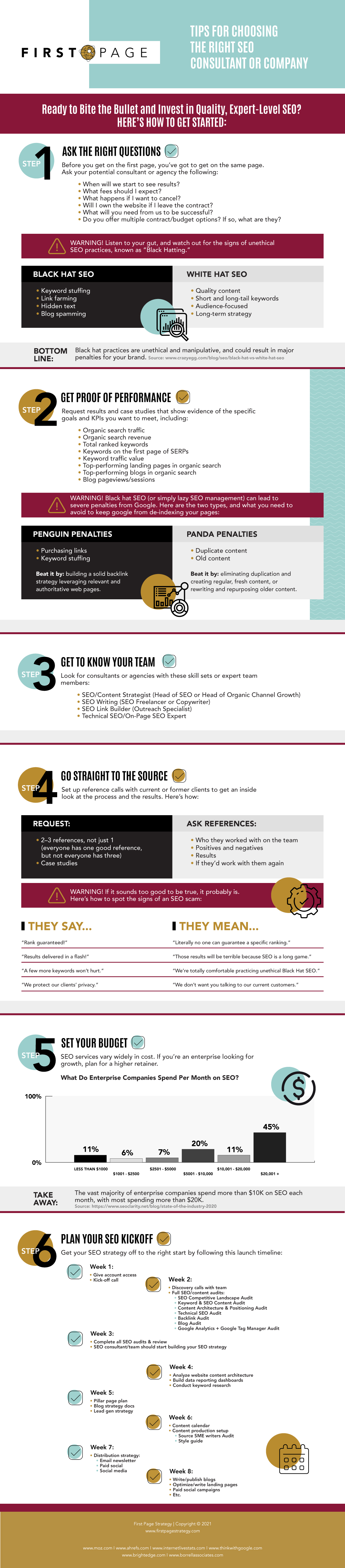 Infographic about Tips for Choosing the Right SEO Consultant or Company
