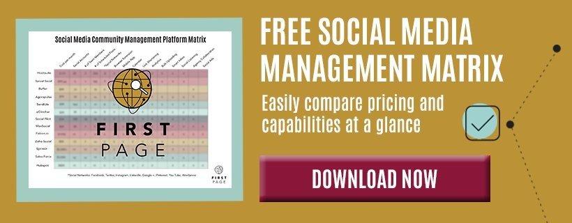 free social media management matrix