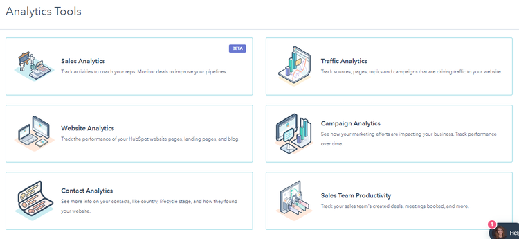 HubSpot analytics tools