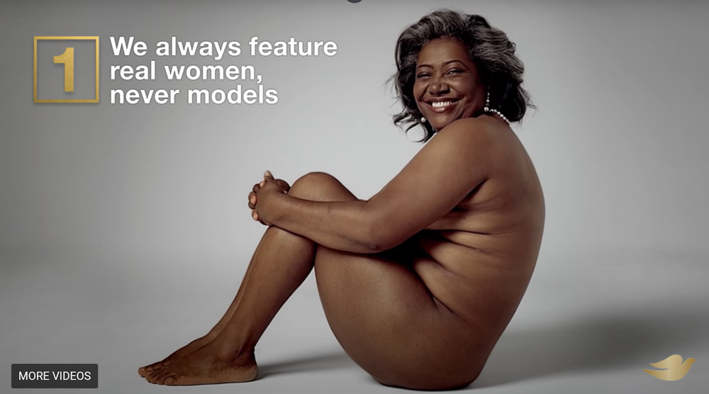 Dove soap ad featuring woman