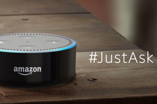 Amazon Alexa ad with #JustAsk