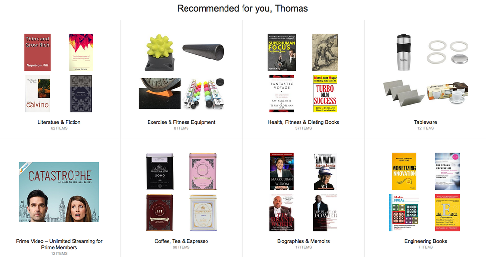Amazon purchase recommendations