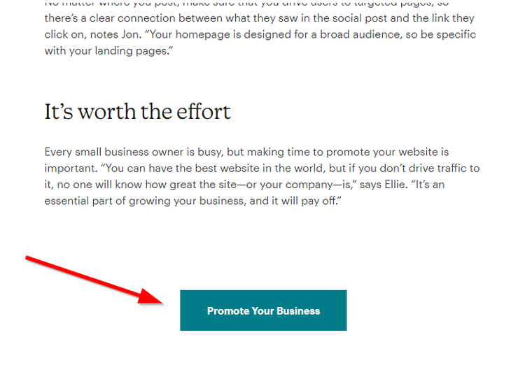 Call-to-action button example