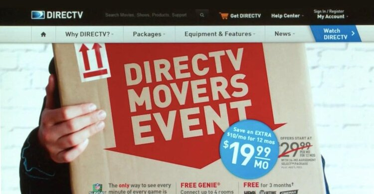 Direcet TV movers ad