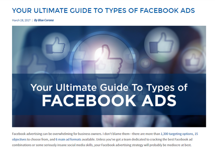 Your ultimate guide to types of Facebook ads