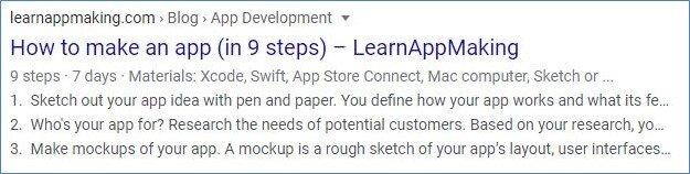 Tech article markup
