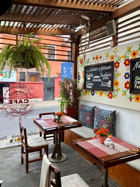 Always looking for cute coffee shops around the world as my office — this one in Quito, Ecuador